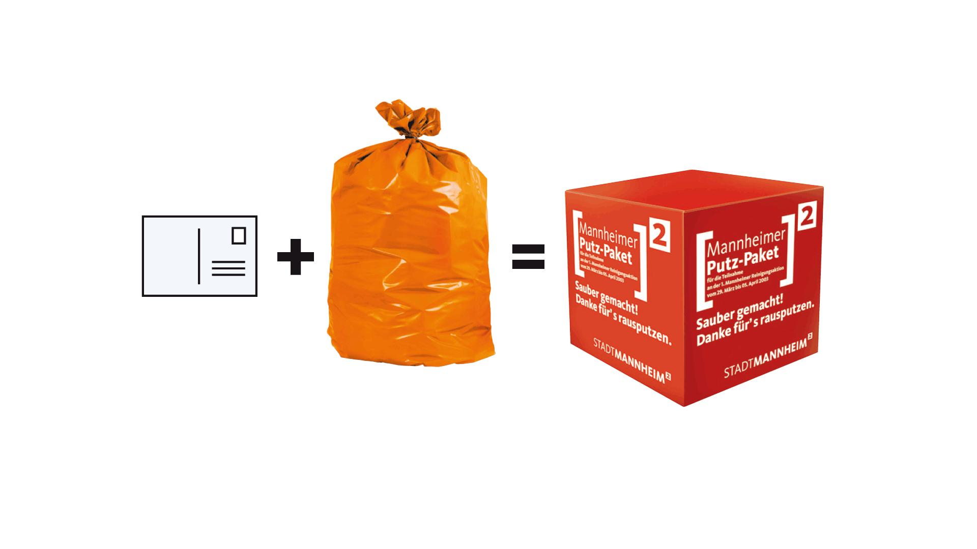 Putz Deine Stadt raus! Kampagne für die Stadt Mannheim, Konzeption und Gestaltung Printmedien