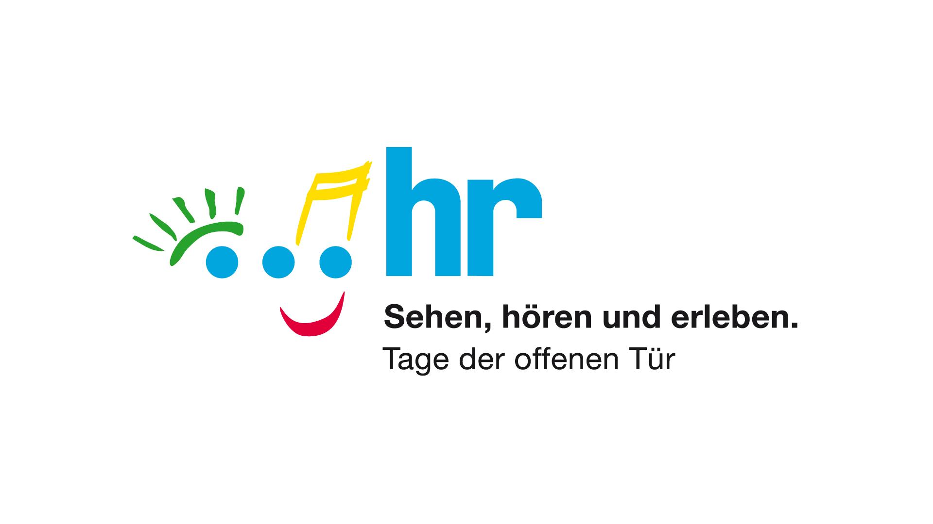 Hessischer Rundfunk Frankfurt. Sehen, hören und erleben. Logo