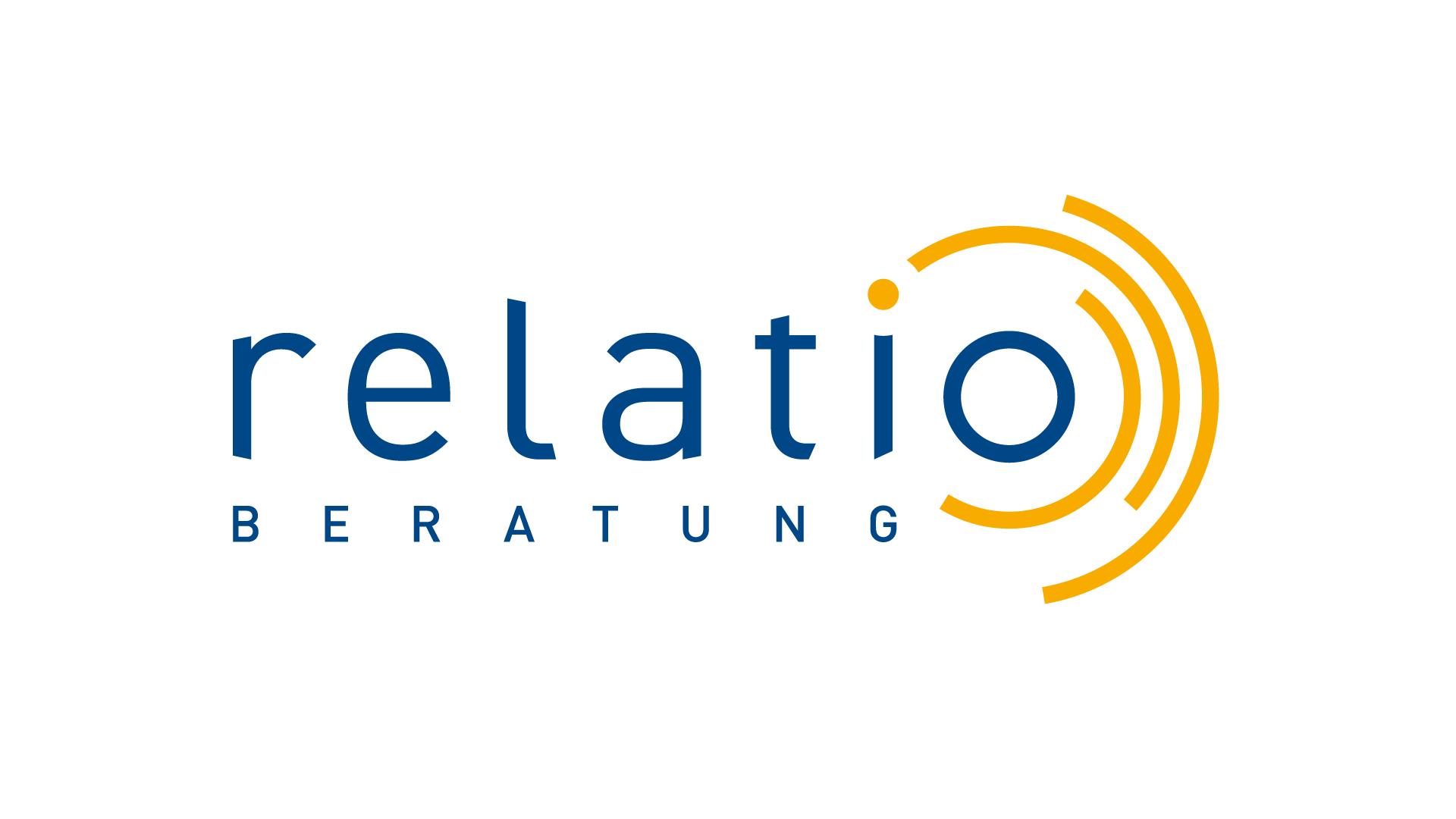 relatio GmbH, München Logo, Geschäftspapiere, Imageflyer, Web