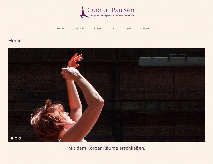 Website der Psychotherapeutin und Tänzerin Gudrun Paulsen