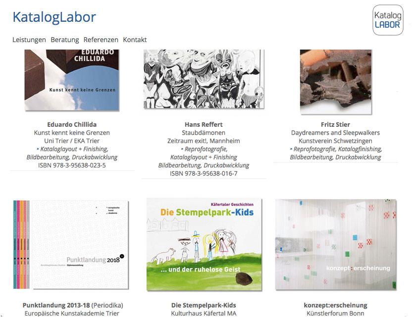 Grafik Website kataloglabor.de