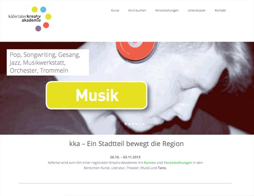 Website der Käfertaler Kreativakademie
