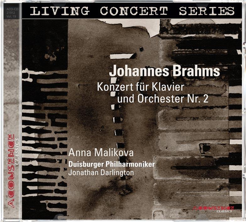 CD Johannes Brahms, Konzert für Klavier und Orchester Nr. 2, Solistin: Anna Malikova, Klavier