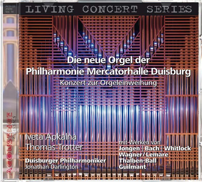 CD anlässlcich der Einweihung der neuen Eule-Orgel in der Mercatorhalle Duisburg, ACOUSENCE