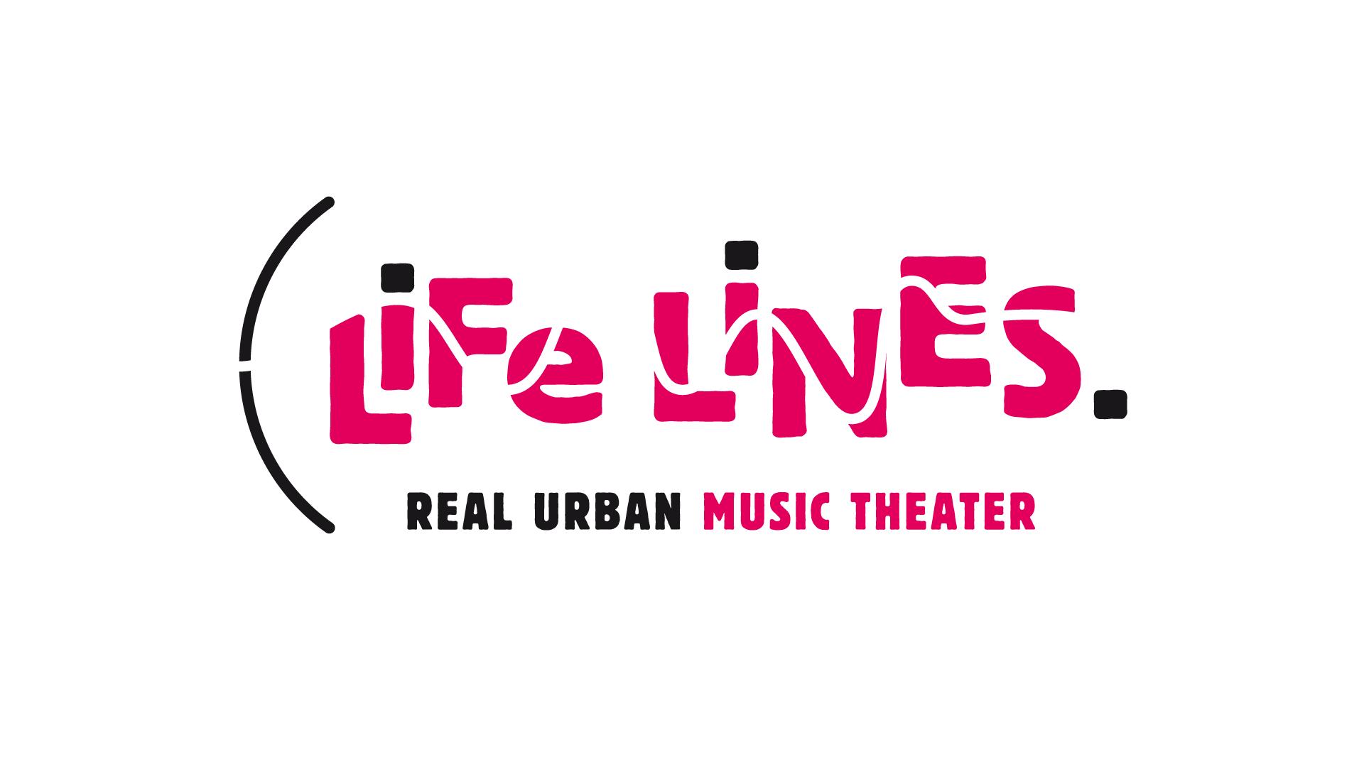 Life Lines – Real Urban Life Theatre. Logo für eine Veranstaltungsreihe